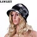 A259 New Womens Ladies Winter Wool Cotton Bucket Fur Trimmed Beanie Ski Cap Hat