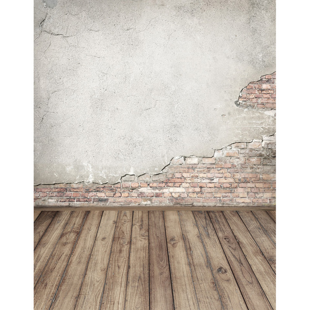Vinyl fabric cloth print brick wall wood floor photo studio backgrounds for portrait photography backdrops props
