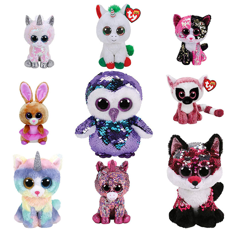 ea88c990c84 15 cm Chihuahua Dog Bear Bear Booties Ty Beanie Big Eyes Paws Bat Unicorn  Toy Doll