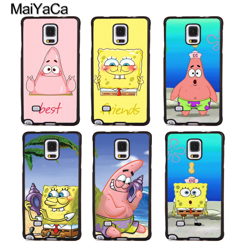 MaiYaCa SpongeBob SquarePants Patrick Star Rubber Phone Cases For Samsung Galaxy S5 S6 S7 edge plus S8 S9 Note 4 5 8 Back Cover