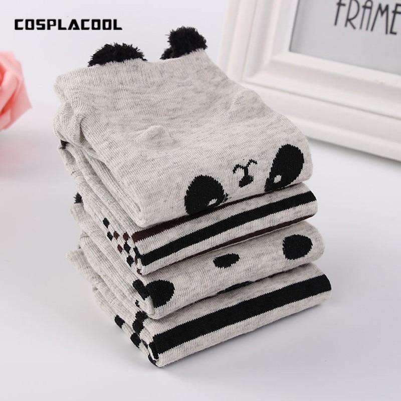 cosplacool kawaii Animal Cute Panda Pattern Socks Striped/dot Funny Socks Women Cartoon Sokken Creative Female Calcetines Mujer Bringing More Convenience To The People In Their Daily Life Women's Socks & Hosiery