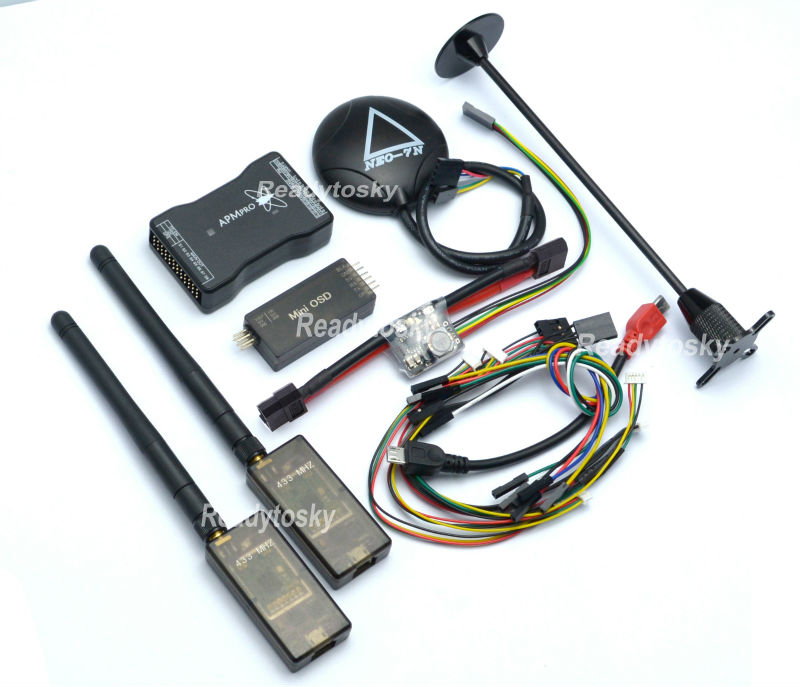 MINI APM PRO Controller+NEO -7N 7N GPS Module w/ Standing +Power Module +433MHZ / 915Mhz V2 Telemetry new mini apm pro flight controller with neo m8n gps