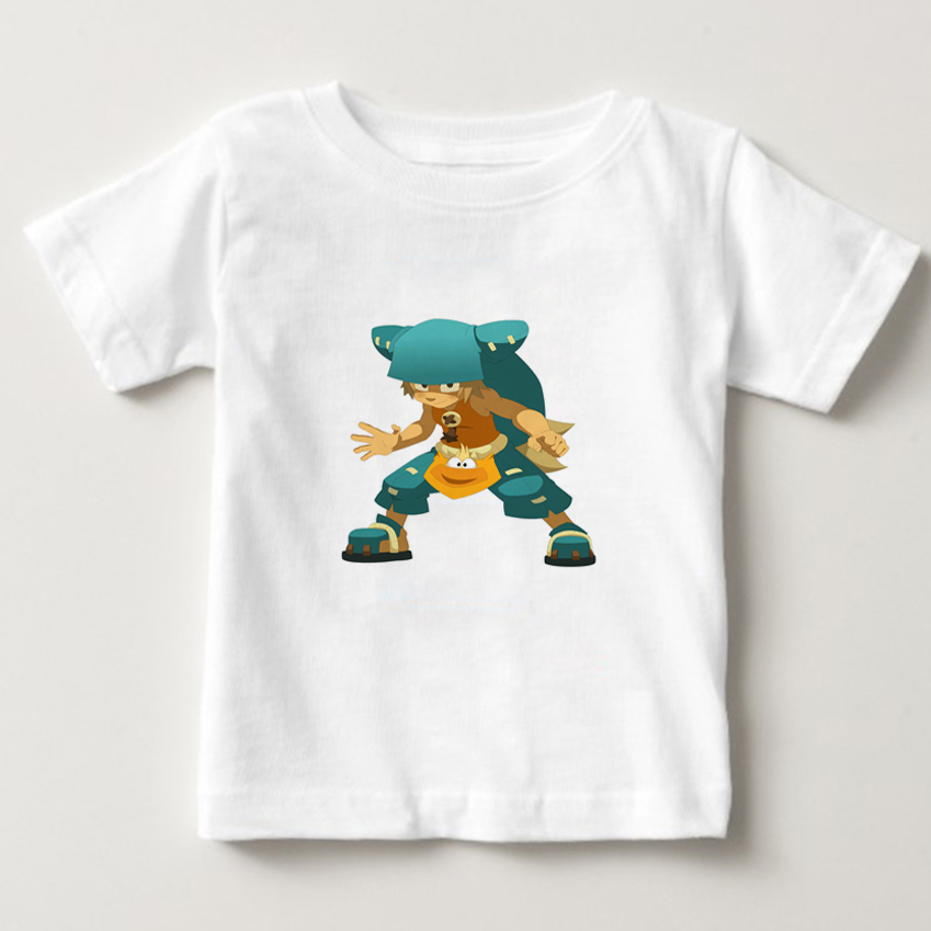 Wakfu game T-Shirt 2-14Y children cartoon T Shirt 100% Cotton Boys Girls Short Sleeve Tees kids baby summer cool O-Neck tops NN