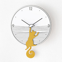 Swing Wall Clock Modern Design Nordic Tail Cat Watch Mechanism Living Room Large Relogio Parede Decorative Duvar Saati 50Q261