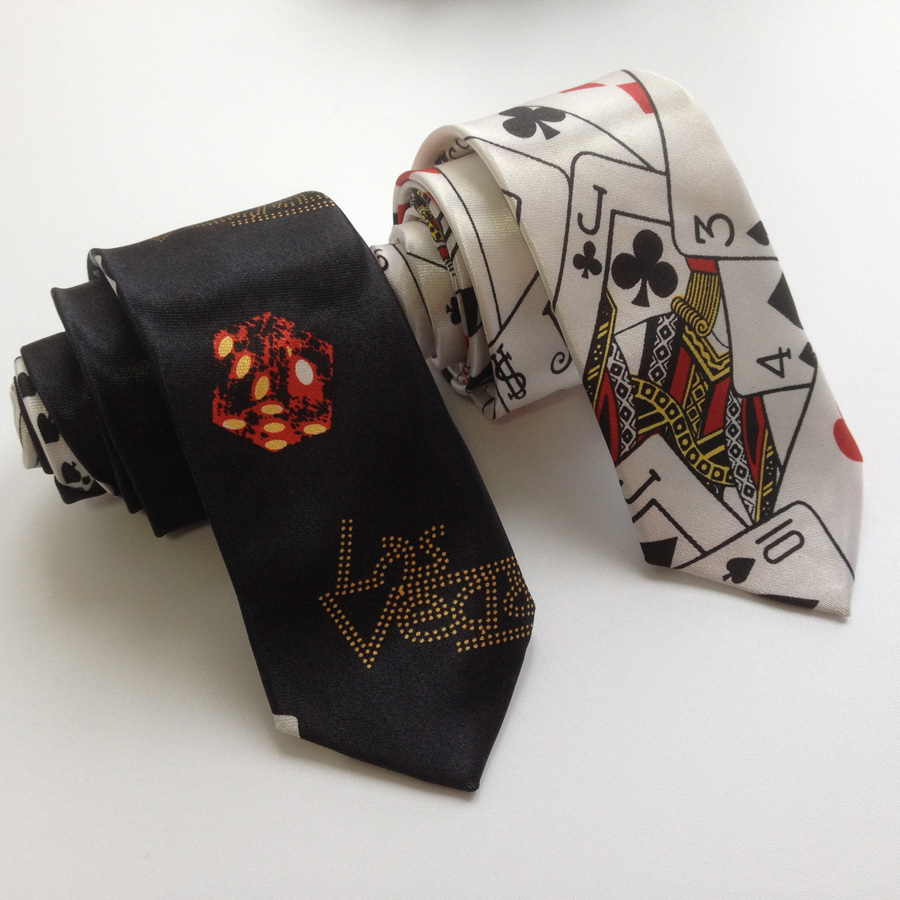 Men Fashion Printed Necktie Play Cards Poker Pattern Bow Ties Butterfly Wholesale