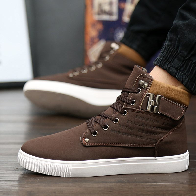 Image 3 - Sneakers men shoes 2019 lace up warm winter ankle boots men sneakers breathable solid canvas shoes men boots  zapatos de hombre-in Running Shoes from Sports & Entertainment