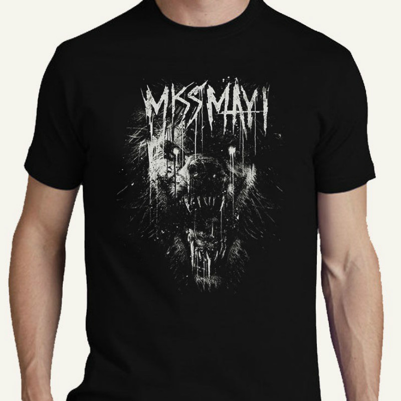 Miss May I Metalcore Band S M L Xl 2Xl 3Xl T Shirt Tee Monument Print T Shirt Mens Short Sleeve Hot image