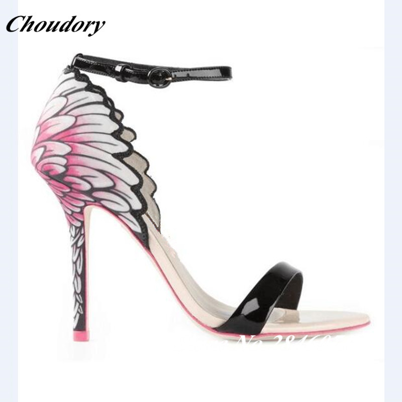 Black Pink Mixed Colors chaussures femme ete 2017 Fashion Sexy Sandalias Mujer Open Toe Thin High Heels Gladiator Sandals Women new 2016 sexy gladiator ankle straps high heels fashion brand women sandal summer mixed colors open toe sandalias big size 34 43