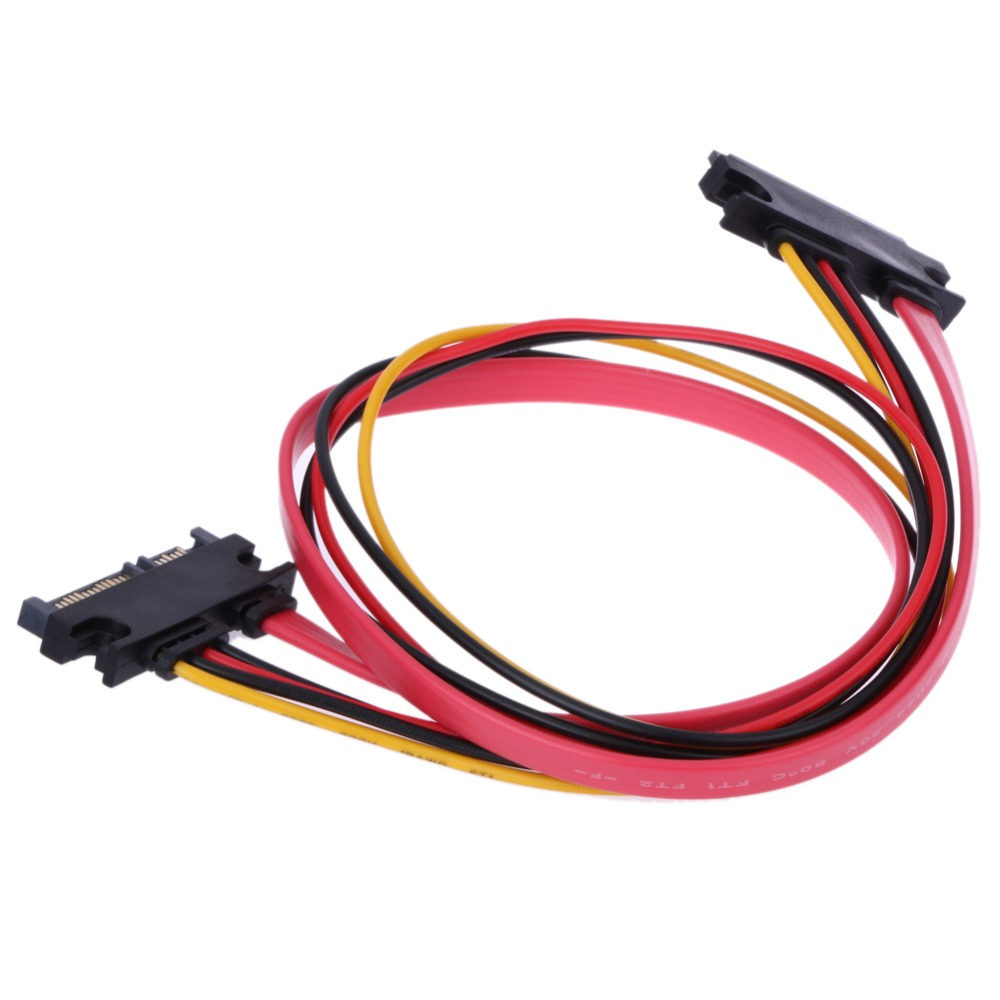 22 Pin Male to Female 7+15 pin SATA Data Power Combo Extension Cable 45CM 7 pin 30mm male