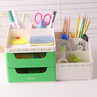 Deli Pen Holder Multi function Stationery Holder Desk Stationery Storage Desk Accessories & Organizer Office and School Supplies