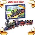 Новогодний подарок гранд пакет поезд 3D головоломки забавные поезд бумажная модель DIY игрушка украшение обучающие игрушки образование весело семья работа