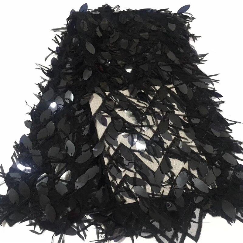 Nouveau Design africain dentelle tissu pour robe de mariée de haute qualité français dentelle tissu avec 3D paillettes mode nigérian dentelle tissu-in Dentelle from Maison & Animalerie    1