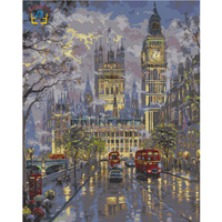 Diy Digital Painting Picture Of London Night Wall Art Canvas Framed Painting Decorative On The Wall