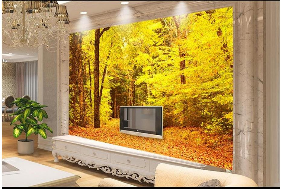 №Custom 3d photo wallpaper for walls 3 d wall murals Autumn maple ...