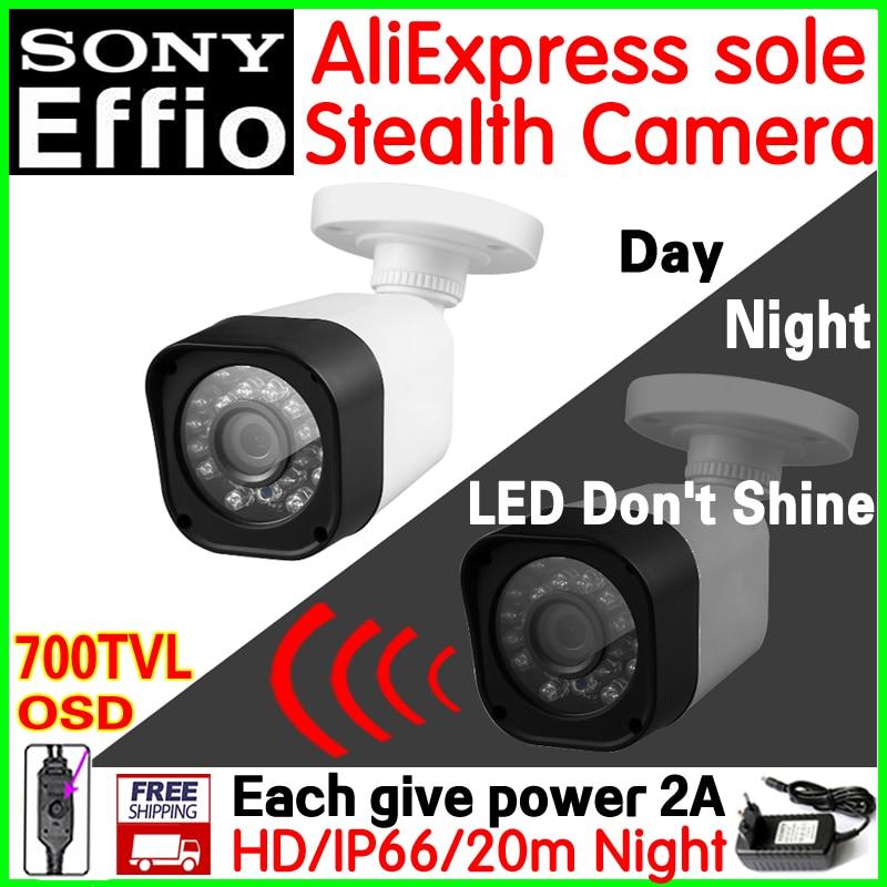 Patent stealth vidicon!1/3Sony CCD Effio 700TVL HD mini Cctv Camera 30led Don't shine Night Vision 20m OSD meun Waterproof IP66 sat integral s 1221 hd stealth купить есть в наличии