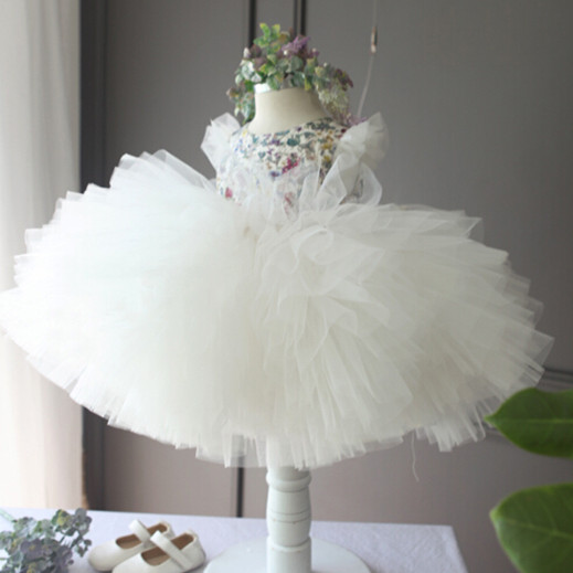 BABY WOW Baby Girls Dresses Little Girls Dresses Princess Ball Gown Flower Girl Dresses for 0