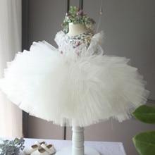 ДЕТСКИЕ WOW Детские Платья Маленькие Девочки Платья Принцесса Бальное платье Девушки Цветка Платья для 0-2 Т Ребенка одежда 80217