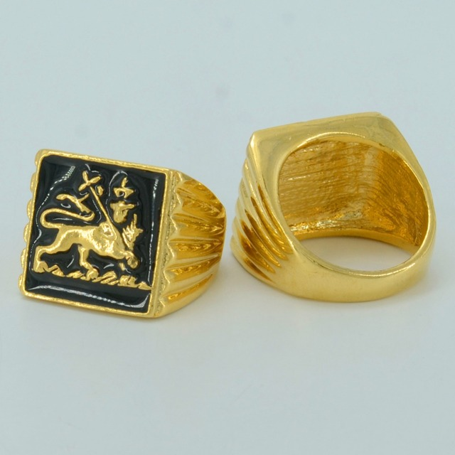 Anniyo etíope anel de leão mulher leão africano cor ouro eritreia jóias leão de judá #049306