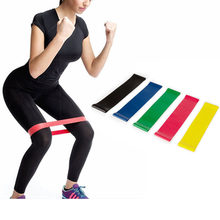 5 farben Yoga Widerstand Gummi Bands Indoor Outdoor Fitness Ausrüstung 0,35mm-1,1mm Pilates Sport Training Workout Elastische bands(China)