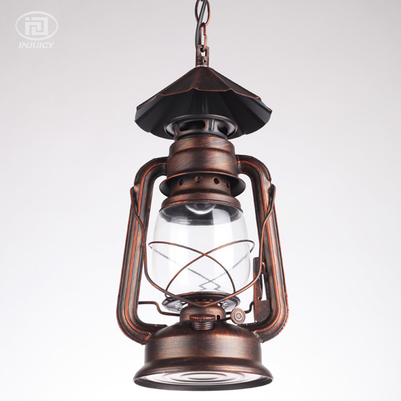 Vintage Loft Lantern Kerosene Hanging Lamps Iron Glass Ceiling Lamp Industrial Pendant Lights Cafe Bar Hall Restaurant Store In From