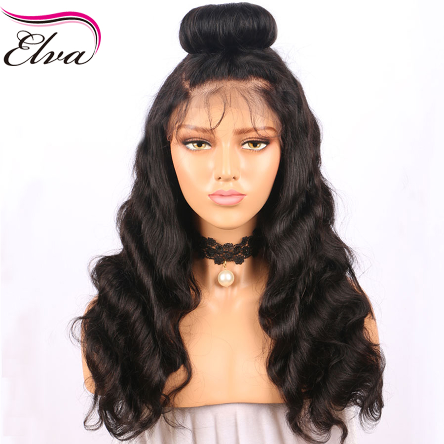 Lace Front Human Hair Natural Hairline Wigs Pre Plucked Loose Wave Brazilian Remy Hair Lace Wigs Natural Black Color