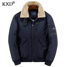 KXD 2017 Winter Cotton Padded Jacket Parkas Men Brand Autumn Windproof Thick Fleece Warm Bio Down Parka For Men Short Coat
