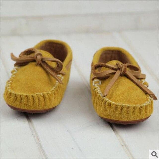 2017 autumn child Moccasins fashion bow genuine leather female single shoes child