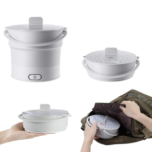 Image 5 - Folding Electric Skillet Kettle Heated Food Container Heated Lunch Box Cooker Portable Hot Pot Cooking Tea
