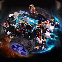 Bat Smart Robot Car Project Complete Starter Tutorial High Tech Programmable Toy for Arduino (Including:for R3 Mainboard)