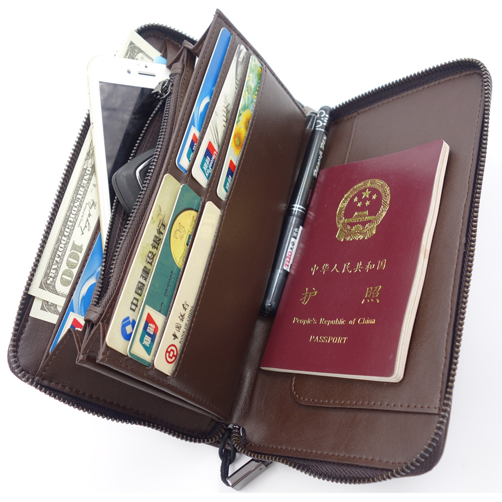 Men Passport Wallet +Passport Holder +Business Card Holder +Leather Passport Cover +ID Credit Card Case Men travel Clutch wallet купить