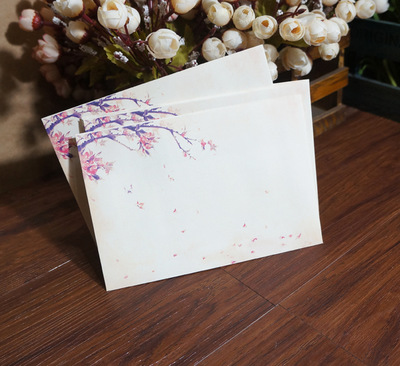 20pcs Chinese Ink Painting Traditional Ancient Classical No.3 Paper Envelopes Vintage Plum Blossom Horizontal Gift Collection