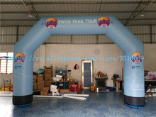 Sell the inexpensive 5.6/3.8m Oxford cloth inflatable arch with built-in fans for commercial campaigns or other USES