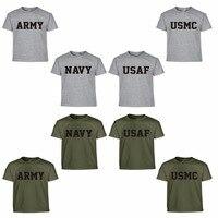 Estate US Army Navy Air Force USAF Marines USMC Militare Fisica PT T Shirt Uomo Divertente Marca O Collo Della Stampa di Cotone Casuale camicie