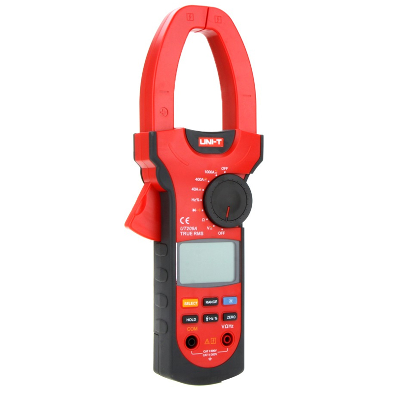 UNI-T UT209A Digital Clamp Meter Multimeter Professional 1000A True-RMS LCD Multifuction Ohm DMM DC AC Voltmeter AC Ammeter 1000a uni t ut209a digital clamp meter multimeter professional true rms lcd multifuction ohm dmm dc ac voltmeter ac ammeter