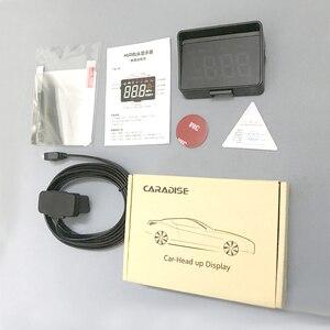 Image 5 - Samochodów HUD wyświetlacz Head Up nowej generacji ostrzeżenie o przekroczeniu prędkości System projektora szyby Auto elektroniczny Alarm napięcia A100S