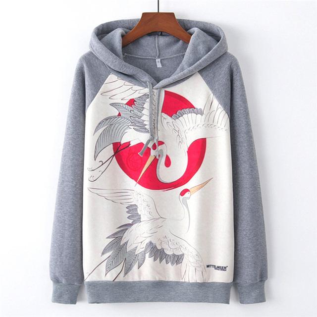 MITTELMEER 2019 Autumn winter Harajuku hoodies women Sweatshirt printing cartoon Unicorn panda Hooded bts girls Christmas