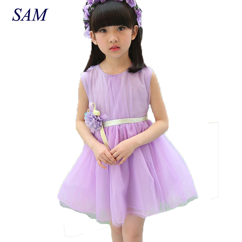 2017 Summer Brand New Baby Girls Dress  Kids Clothes Vestidos Children cartoon Dress Princess Party Dresses Polka Dot little maven children clothing 2017 new summer baby girls brand clothes kids cotton dot pocket dress s0135