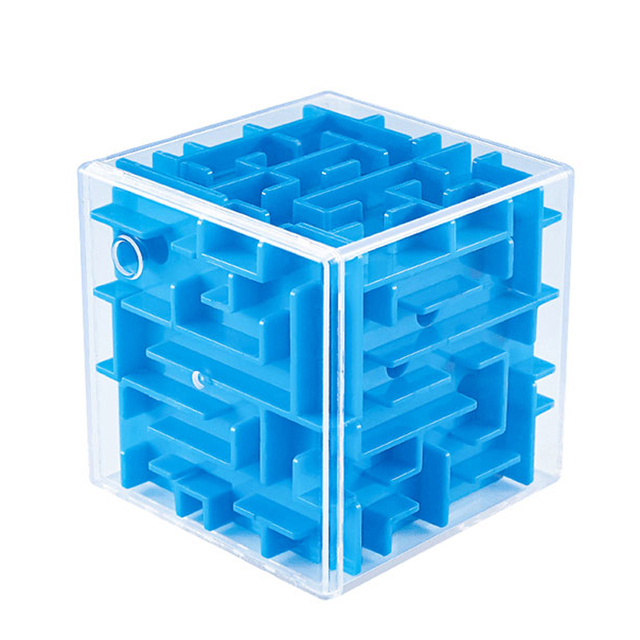 Intellect Magic Cube Box 3D Cube Puzzles Games Steel Ball Maze Toy Hand Fun Balance Challenge Game Toys For Kids Gift 3