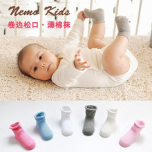 Free Shipping Baby Socks Neonatal Spring Padded manual Boneless seam Comfort relent Factory outlets
