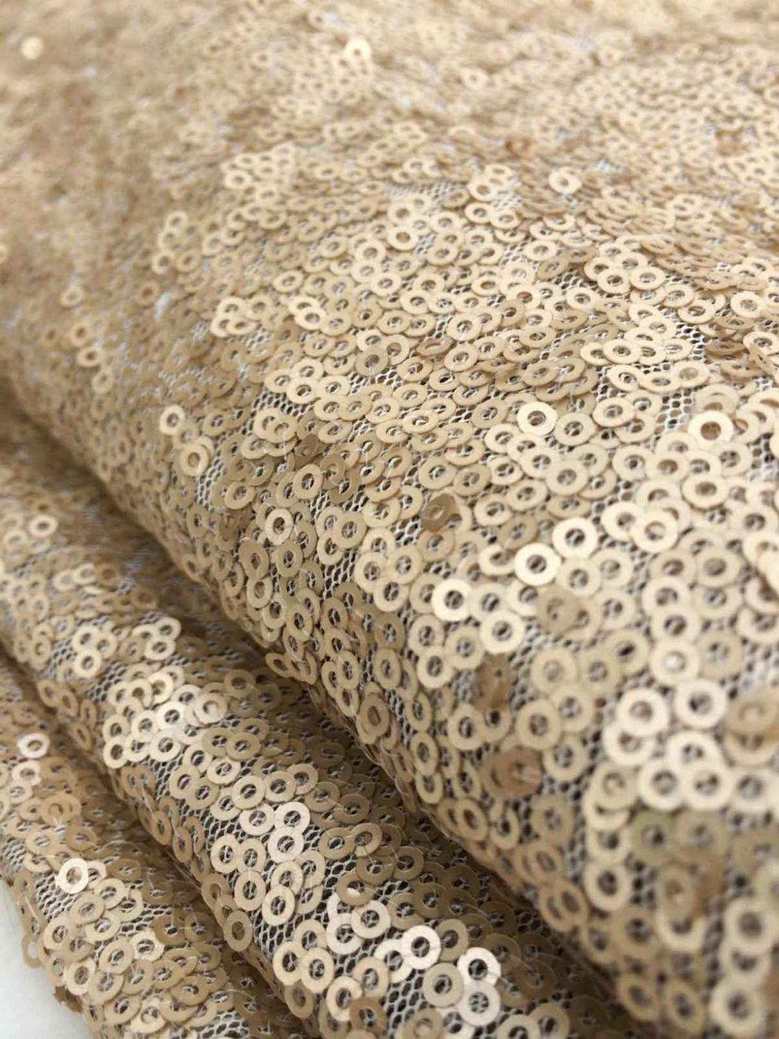 B Y sequin fabric by the yard Champagne Sequin Fabric for Clothes tablecloth table runner Backdrop Stage Party Wedding Decor in Tablecloths from Home Garden