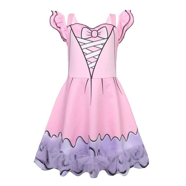 a0a34e00b Nuevas niñas tutú princesa vestidos Cosplay disfraces moana niños Halloween  fiesta Vestido lindo Vestido niña ropa