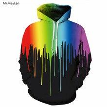 Mr.MayLan Pavasaris Ruduo Naujas Spausdinimas Spalvotas Alyvos Tapyba 3D Kaputimu Sweatshirt Hoodies Vyrai Moterys Laisvas Streetwear Pullover Jacket