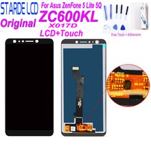 Original for Asus ZenFone 5 Lite 5Q ZC600KL X017D LCD Display LCD Screen Touch Panel Digitizer Assembly with Free Tools original cell phone lcd display touch screen digitizer assembly for asus zenfone 5 a500cg a501cg t00j t00f 5 0 lcd tools