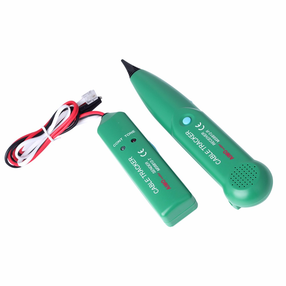 New Telephone Phone Wire Network Cable Tester Line Tracker with carrying bag for MASTECH MS6812 Wholesale