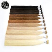 Сказочные волосы remy 0,8 г/локон 16 дюймов волосы Remy с микро-бусинами для наращивания на нано кольцах российские натуральные волосы платиновый блонд 40 г