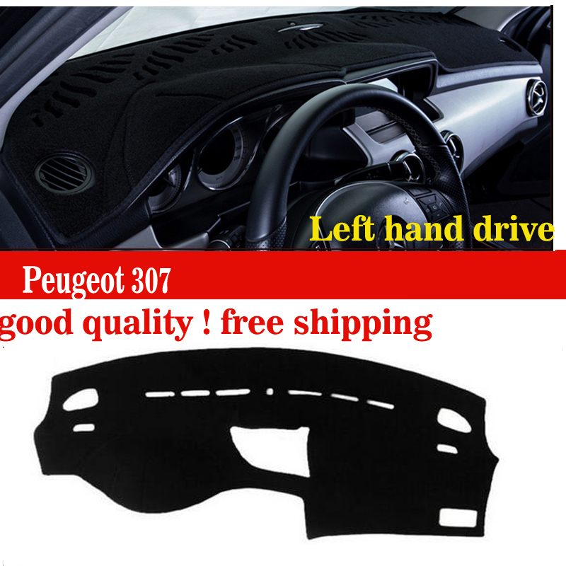 Car dashboard covers mat for Peugeot 307 all the years Left hand drive dashmat pad dash cover auto dashboard accessories dashboard cover
