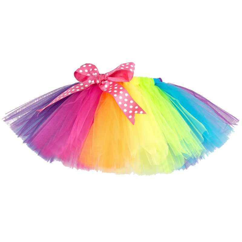 حار الصيف الفتيات تنورة طفل الاطفال فتاة توتو تنورة الأطفال مع الماس قوس قزح الملونة الأميرة التنانير