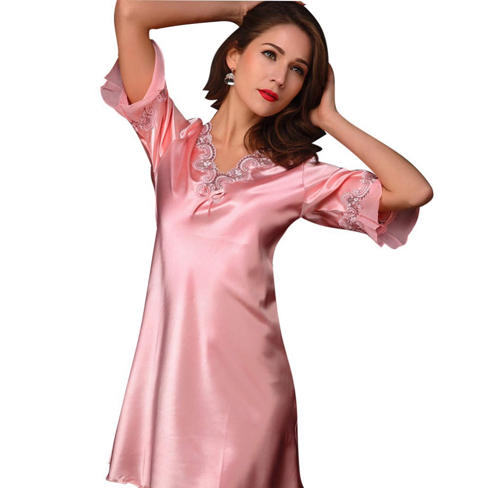 Online get cheap nightdress pregnant aliexpress alibaba group pregnant women maternity nightdress for summer spring v neck sleepwear ladies lingerie pajama bathrobes ombrellifo Choice Image