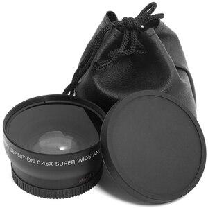 "Image 4 - 49 מ""מ 0.45X זווית רחבה מאקרו Fisheye עדשת צילום סופר מאקרו עבור Canon NIKON Sony PENTAX המצלמה SLR DSLR 49 מ""מ חוט עדשה"