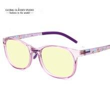 Модные новые прозрачные розовые черные фиолетовые оправа TR90 защита от синего излучения детские очки BG127
